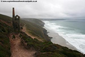 View back to Chapel Porth