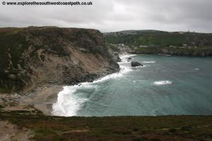 View back to Trevaunance Cove