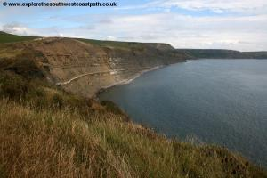 Looking back to Hount-tout Cliff
