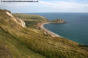 View back to Worbarrow Bay