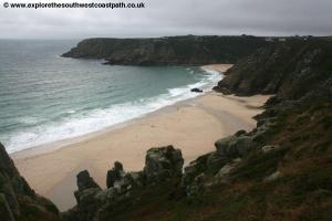 The beach near Porthcurno
