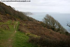 The coast path approaching Seaton