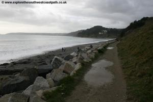 The sea wall east of Seaton