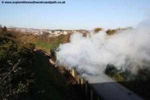 Steam train at Saltern Cove