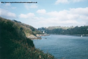 The mouth of the river Dart