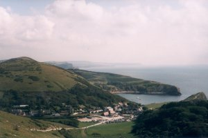 The climb out of Lulworth Cove