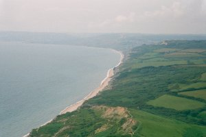 View from Golden Cap towards Lyme Regis
