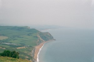 View from Golden Cap towards West Bay