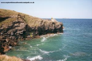 Cliffs near Harlyn Bay