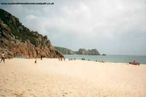 Porthcurno beach, looking East
