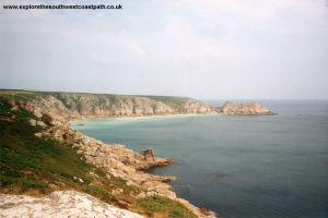 Porthcurno from the coast path
